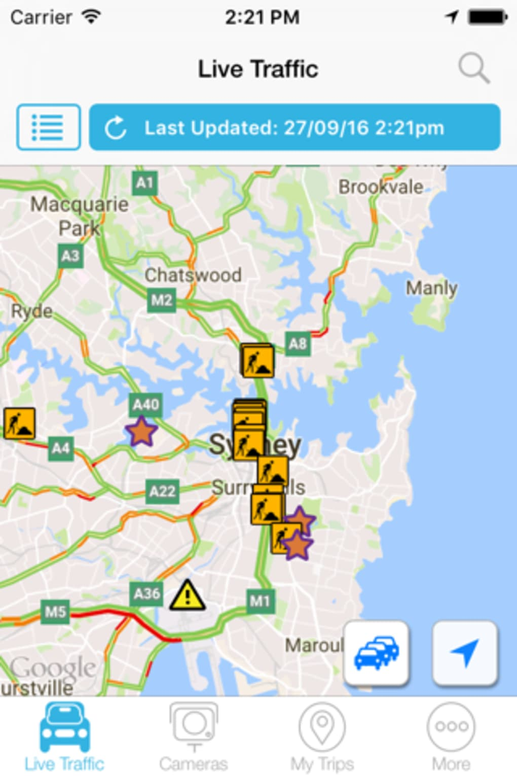 Live Traffic NSW for iPhone - Download