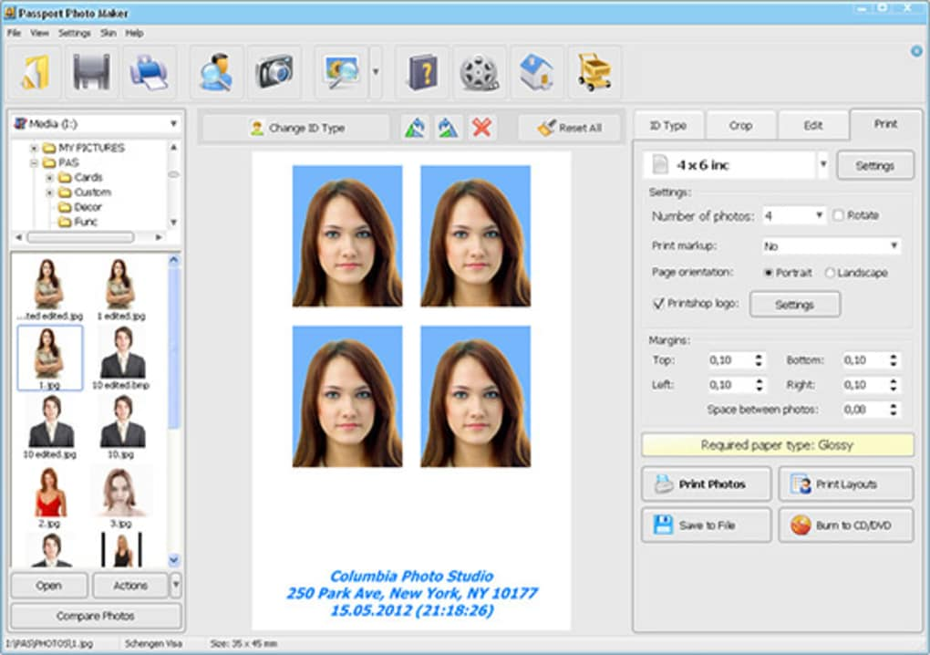 passport size photo printing software for mac