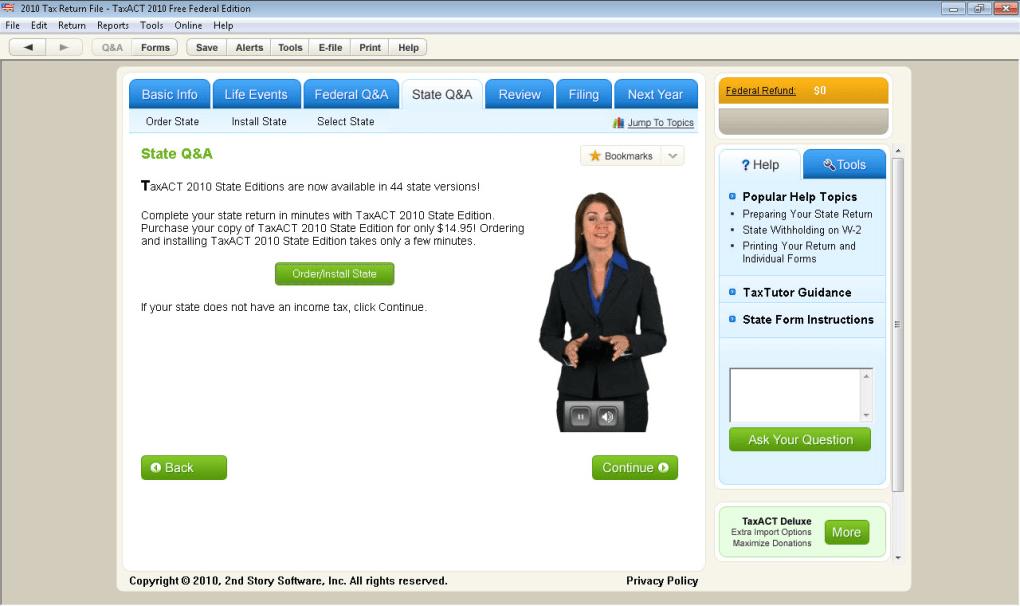Taxact 2012 pin information.