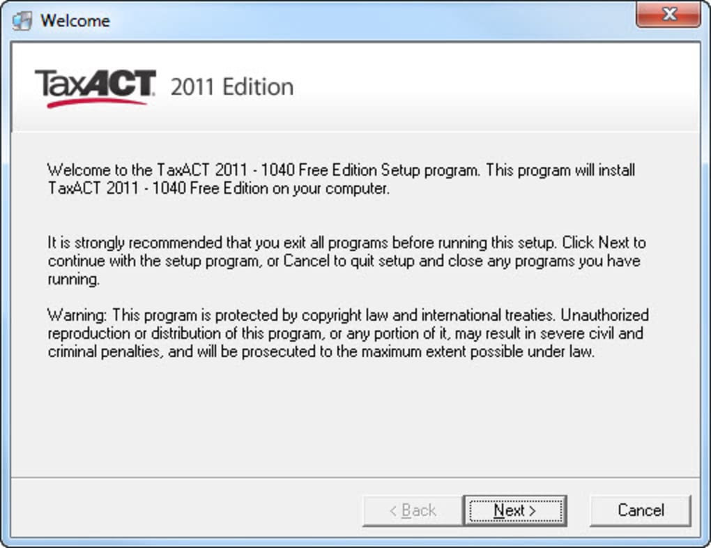 Taxact download.