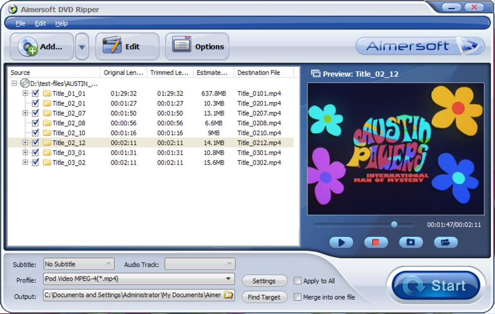 Aimersoft DVD Ripper - Descargar