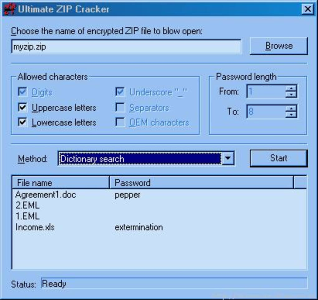 how to break rar zip password