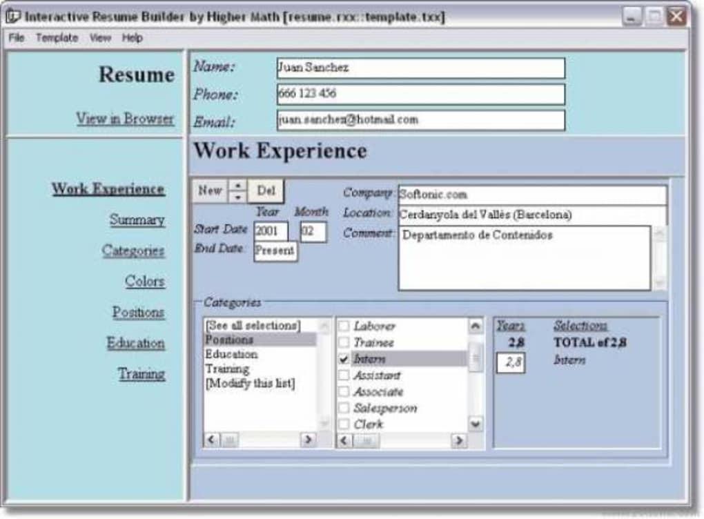 Interactive Resume Builder  Descargar