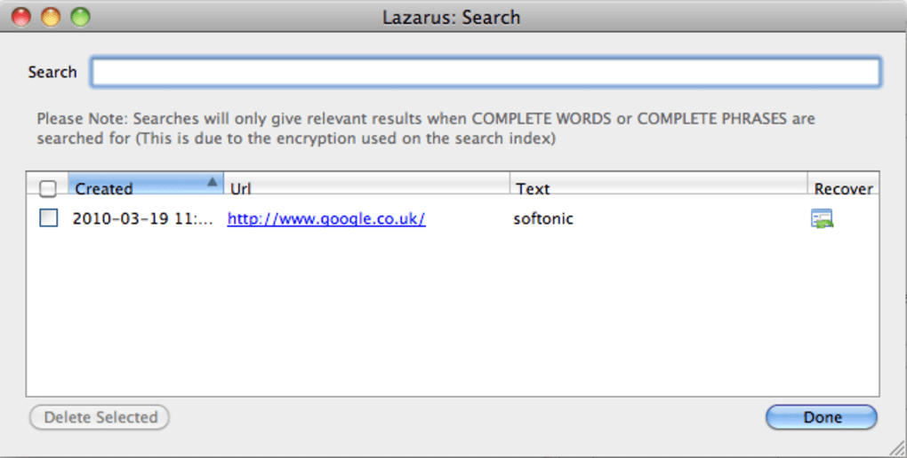 Lazarus: Form Recovery for Mac - Download