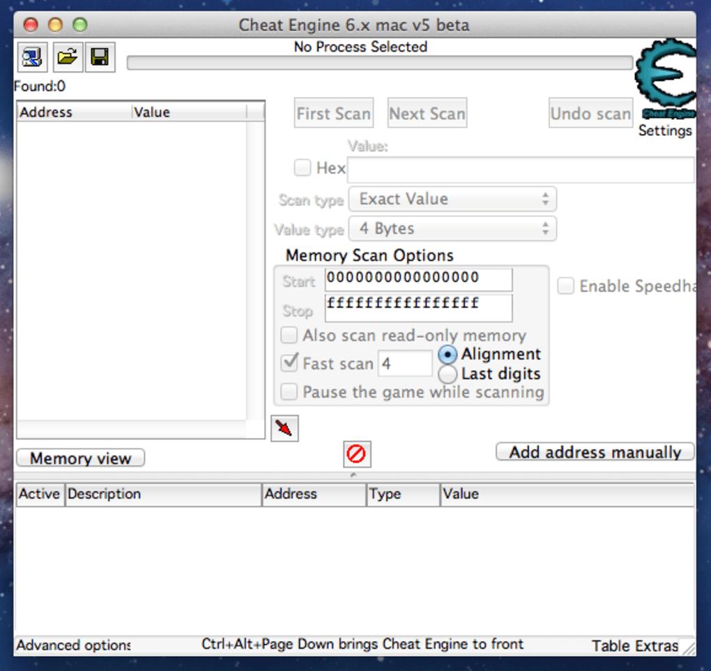 cheat engine 6.2 download mac