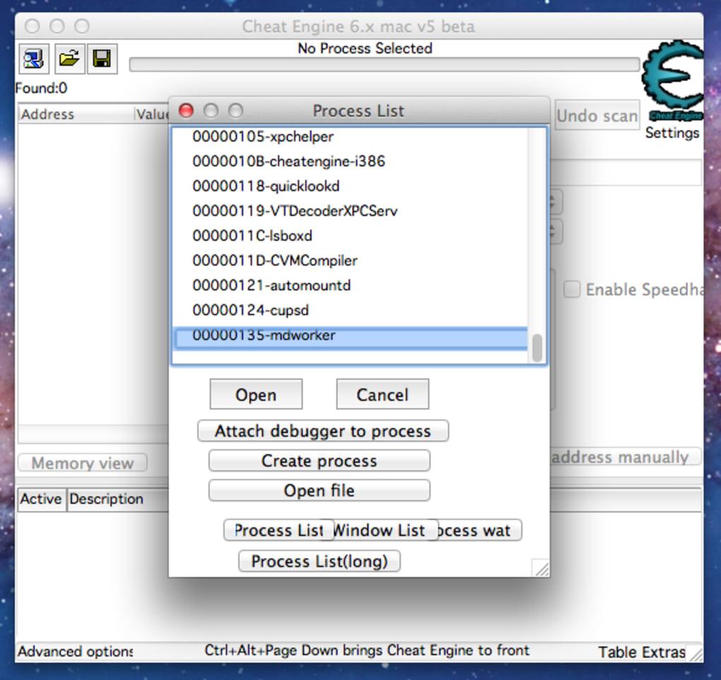 descargar cheat engine 6.5 para mac