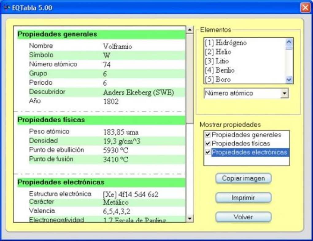 anlisis softonic - Tabla Periodica Interactiva Download