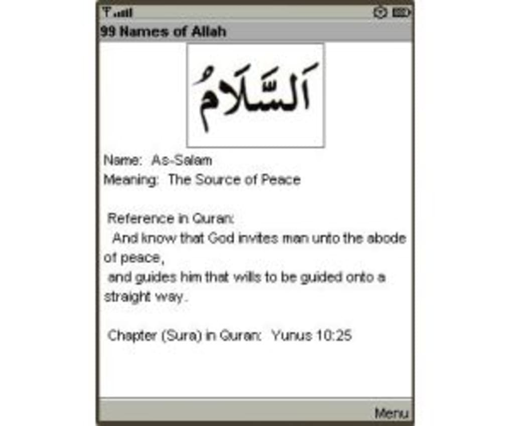 Read Search And Hear The 99 Names Of Allah