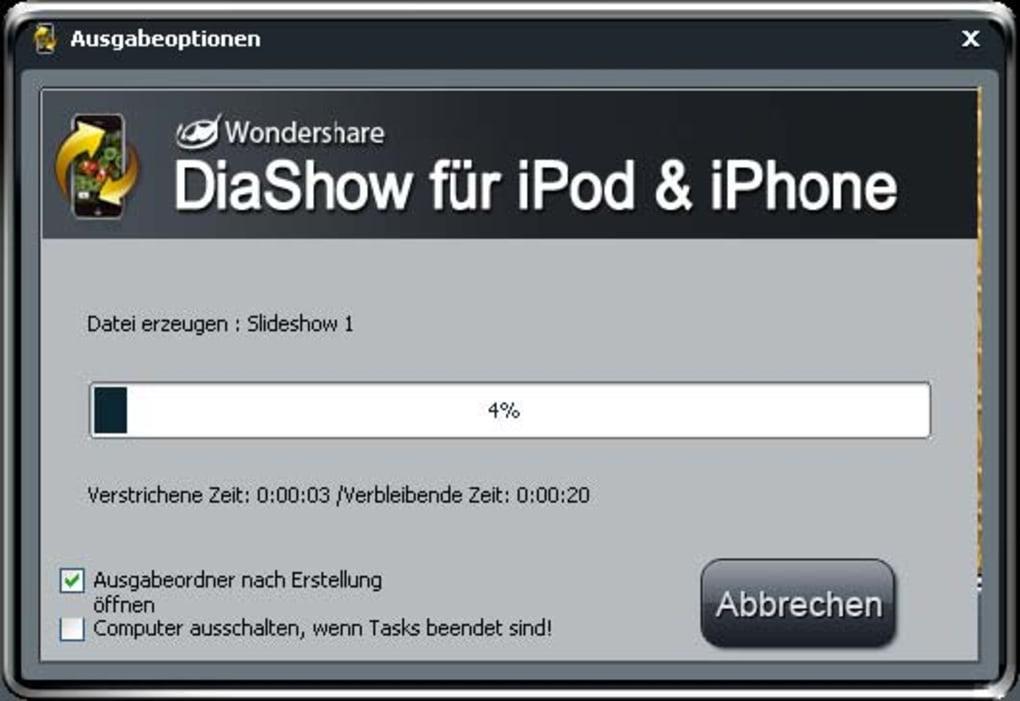 Wondershare Diashow Für Ipod Iphone Download