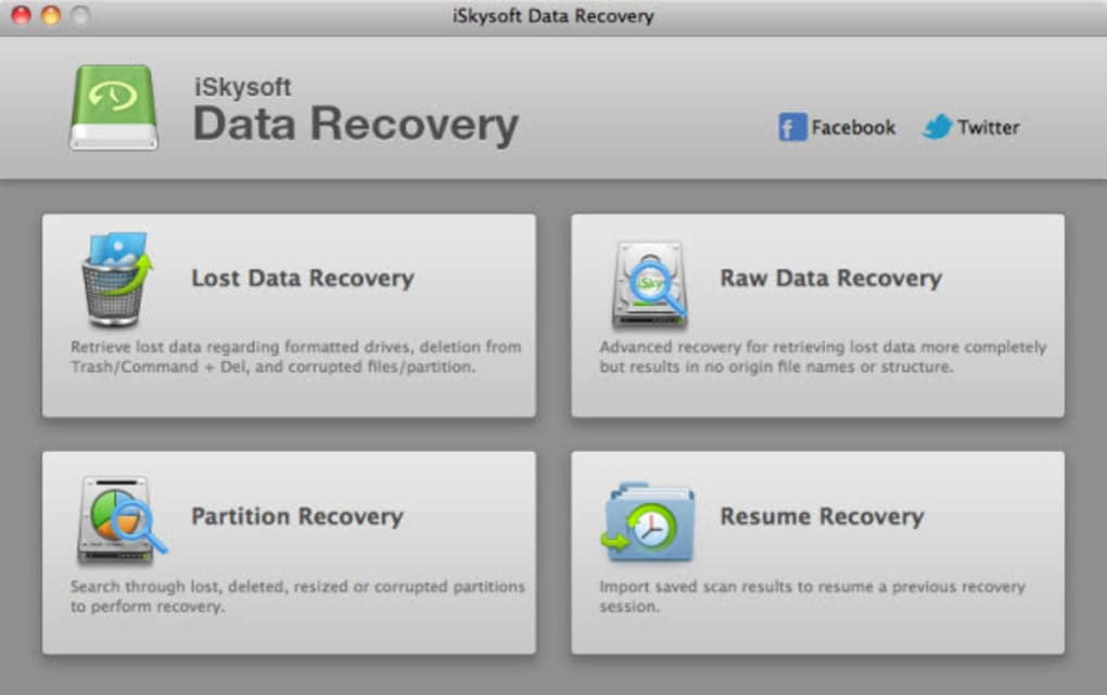 iSkysoft Data Recovery for Mac (Mac) - Download
