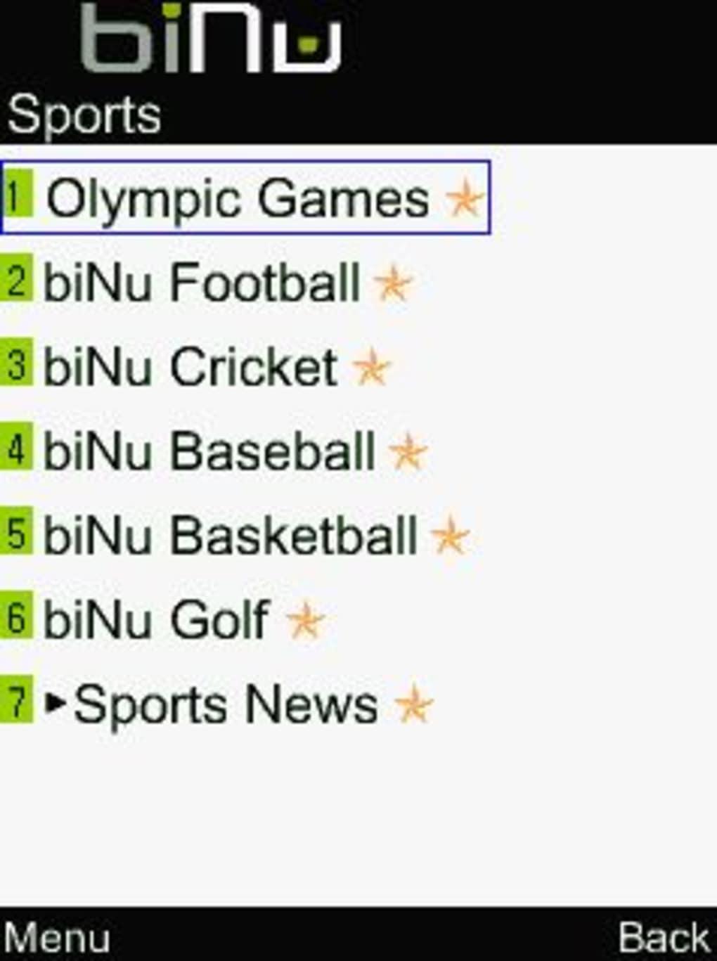 binu application for nokia 5233