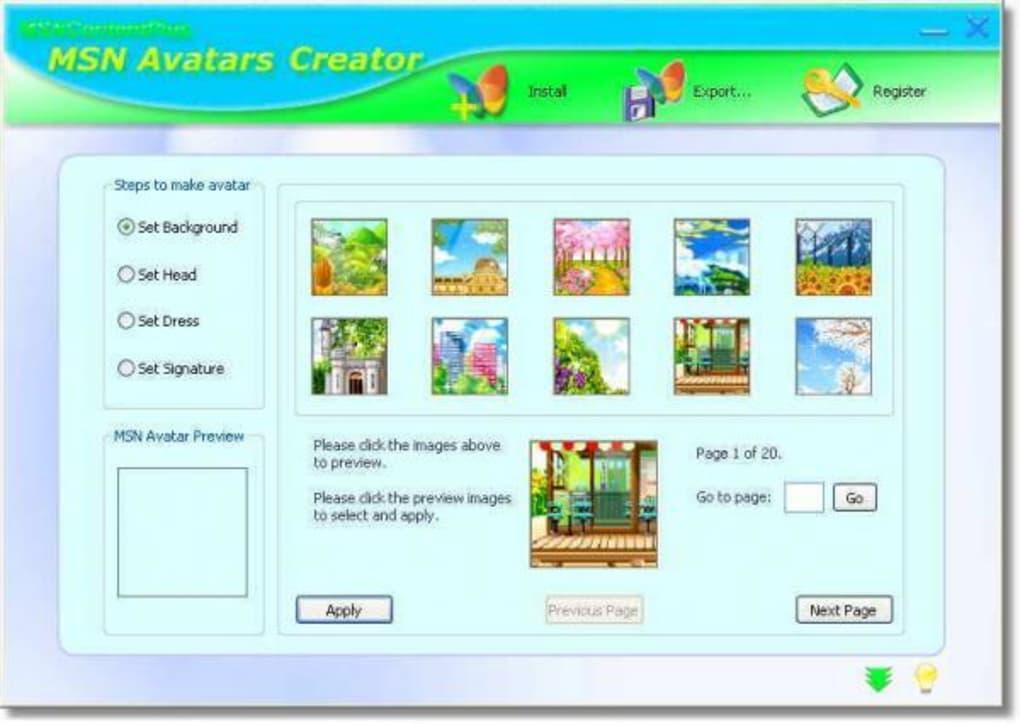 Creator Of Instant Message : Msn avatars creator download