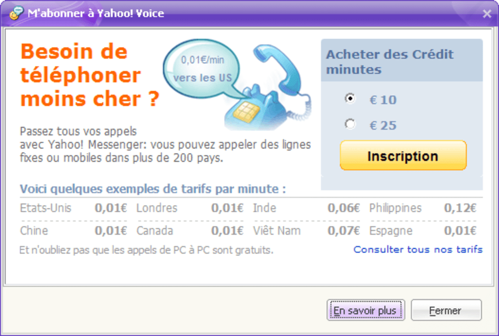 yahoo messenger 2012 gratuit clubic