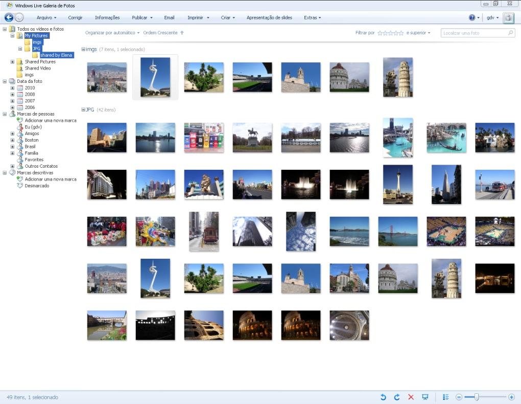 windows live galeria de fotos baixaki
