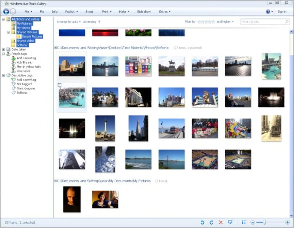 Windows Live Photo Gallery 2012 (Windows) - Download