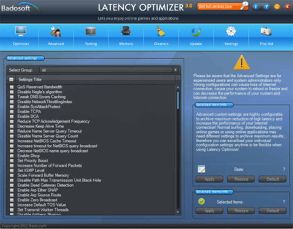 Latency Optimizer - Descargar