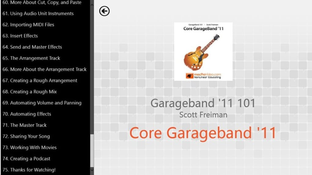 Learning GarageBand '11 for Windows 10 (Windows) - Download