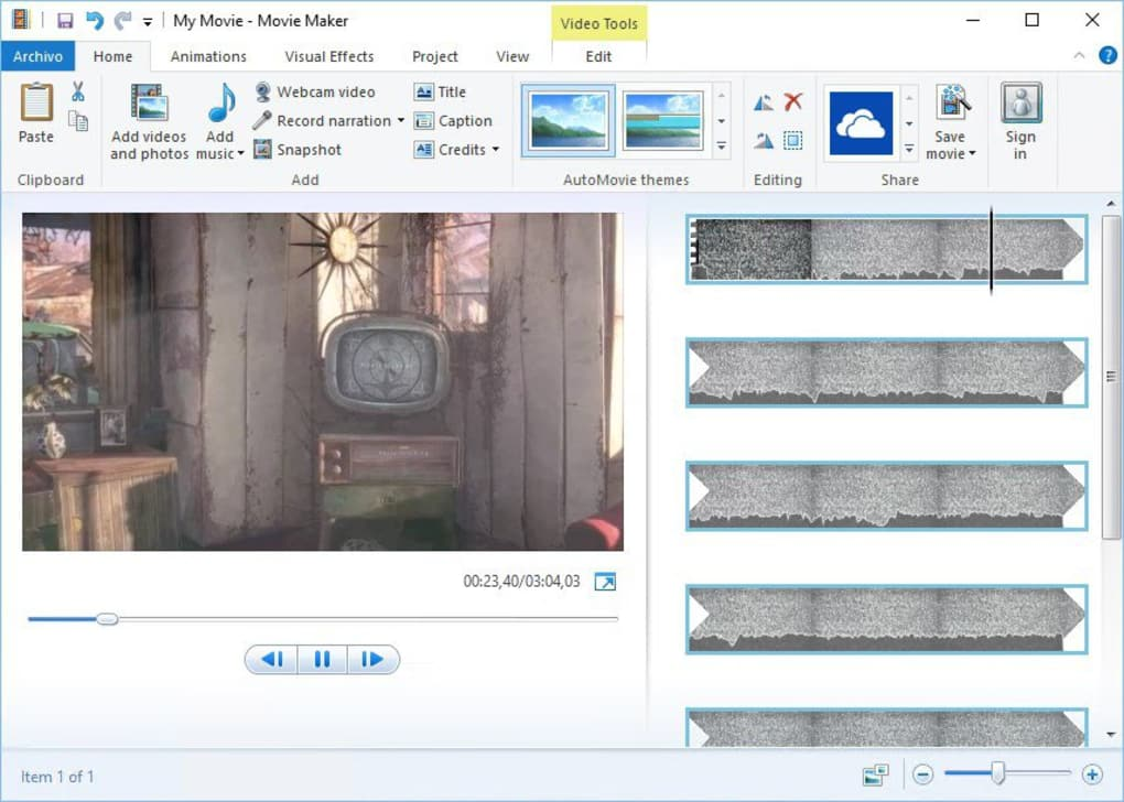 windows movie maker 2.6 sur 01net