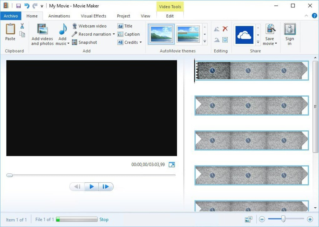 windows movie maker gratis 2017