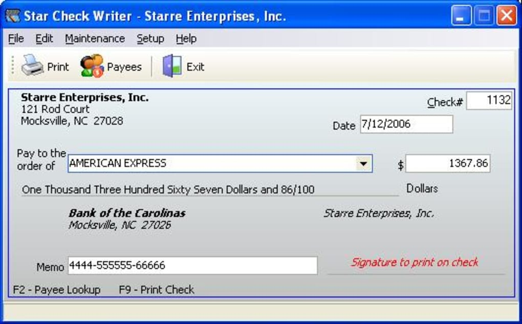 check writing software Computer check writer: no pre-printed checks needed with ezcheckprinting ezcheckprinting is the easy-to-use business version micr and laser check writing and check printing software.