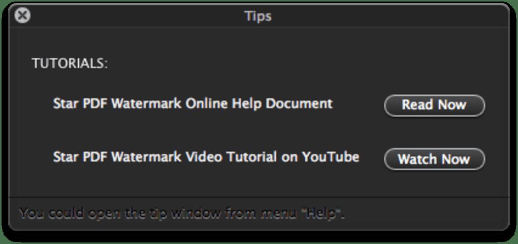Star PDF Watermark para Mac - Descargar