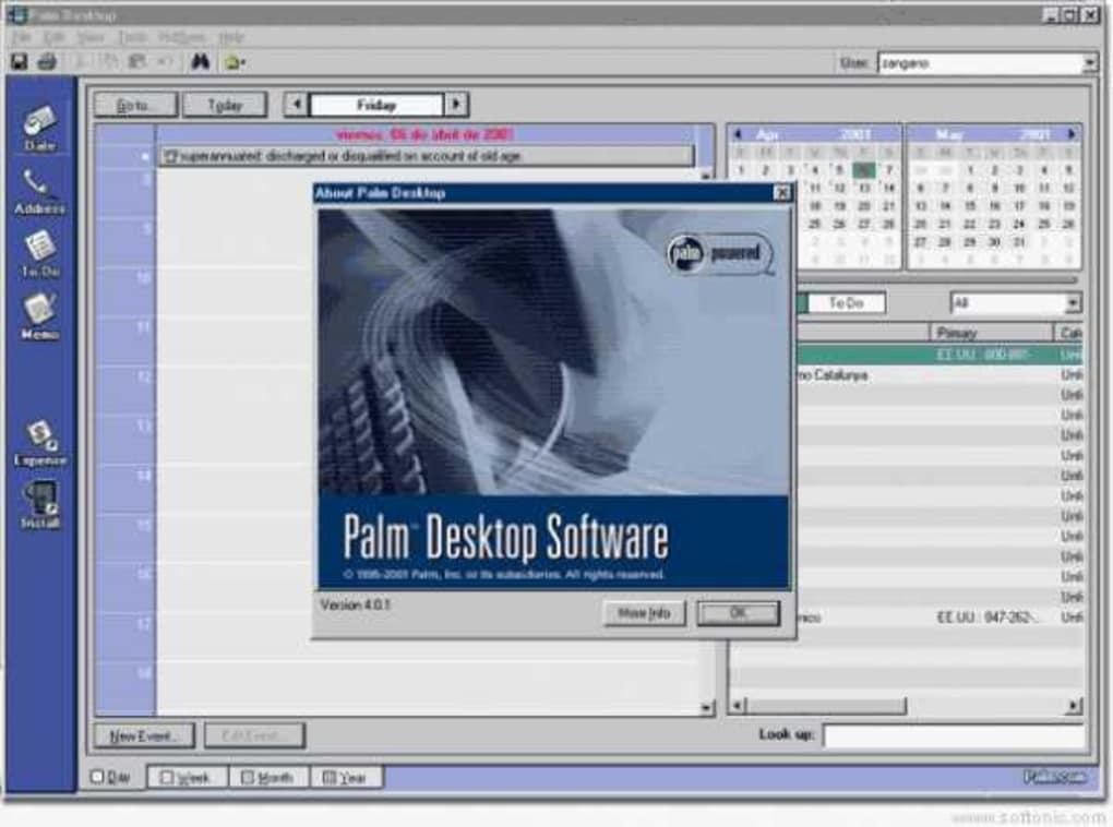 Desktop software for windows and mac (palm) tx handheld (2005.