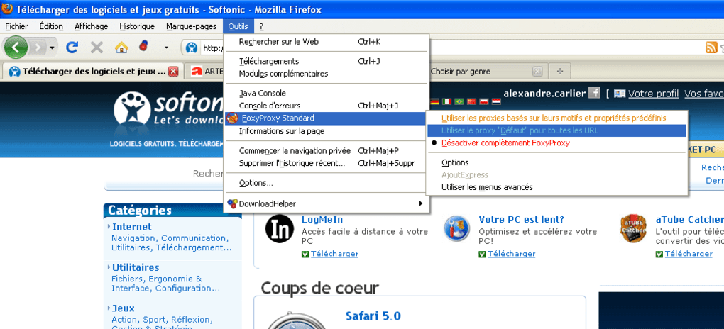 TÉLÉCHARGER FOXYPROXY POUR WINDOWS 7