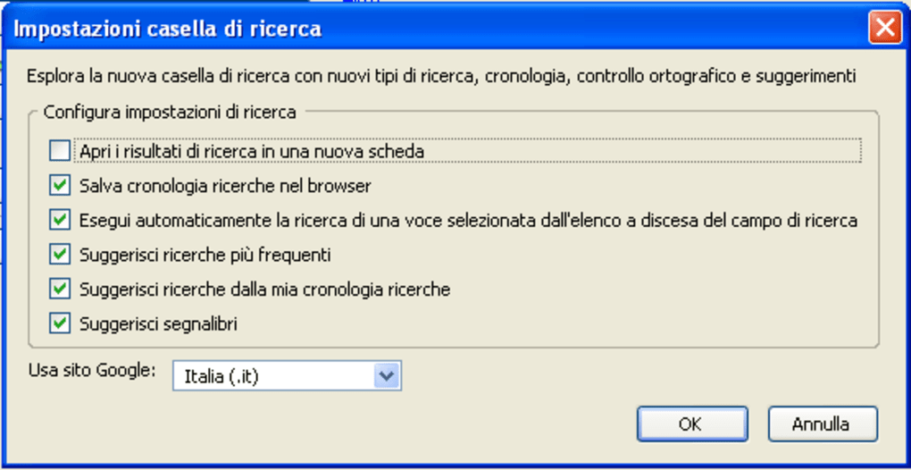 google toolbar italiano