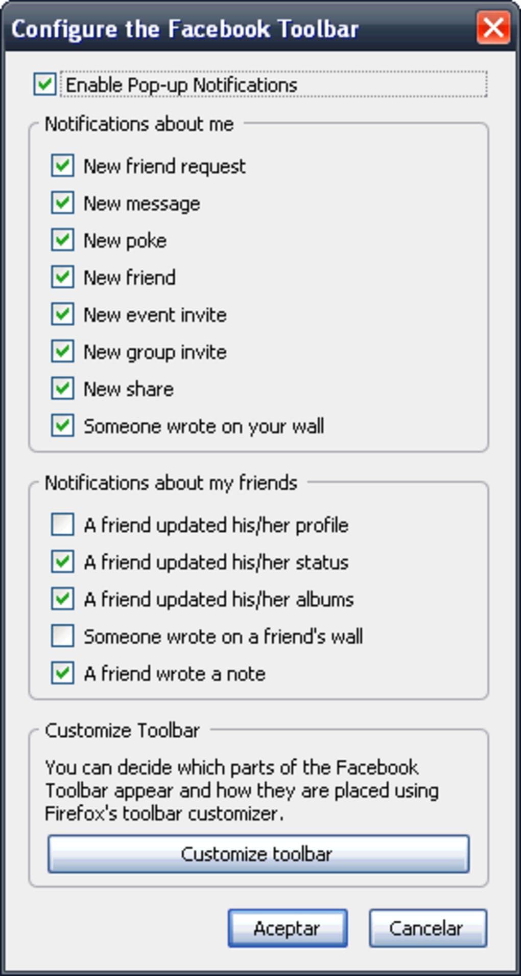 Facebook Toolbar - Download