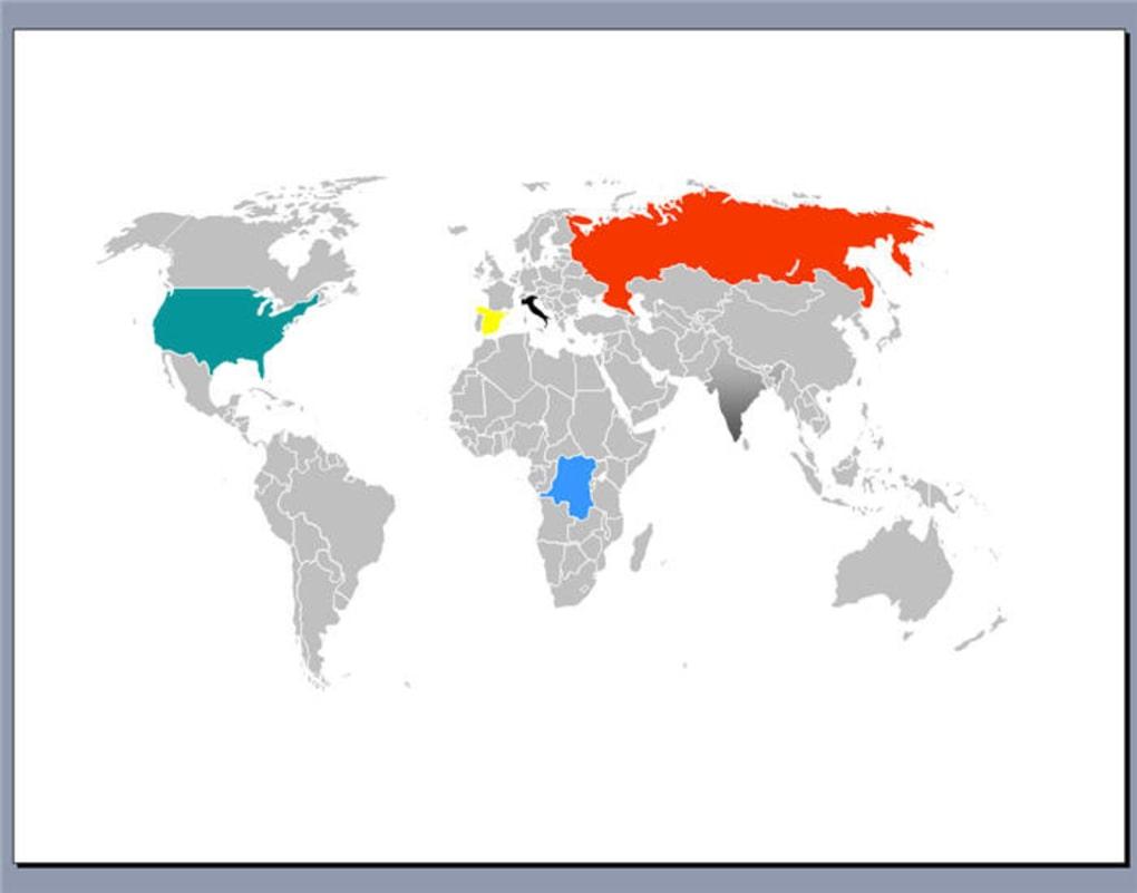 world map powerpoint slide