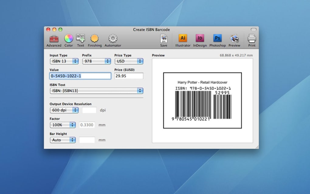 easy barcode creator mac free download