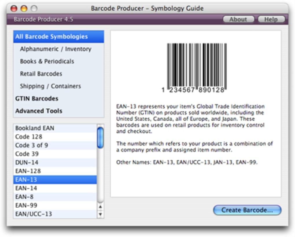 generador de codigos de barras mac gratis