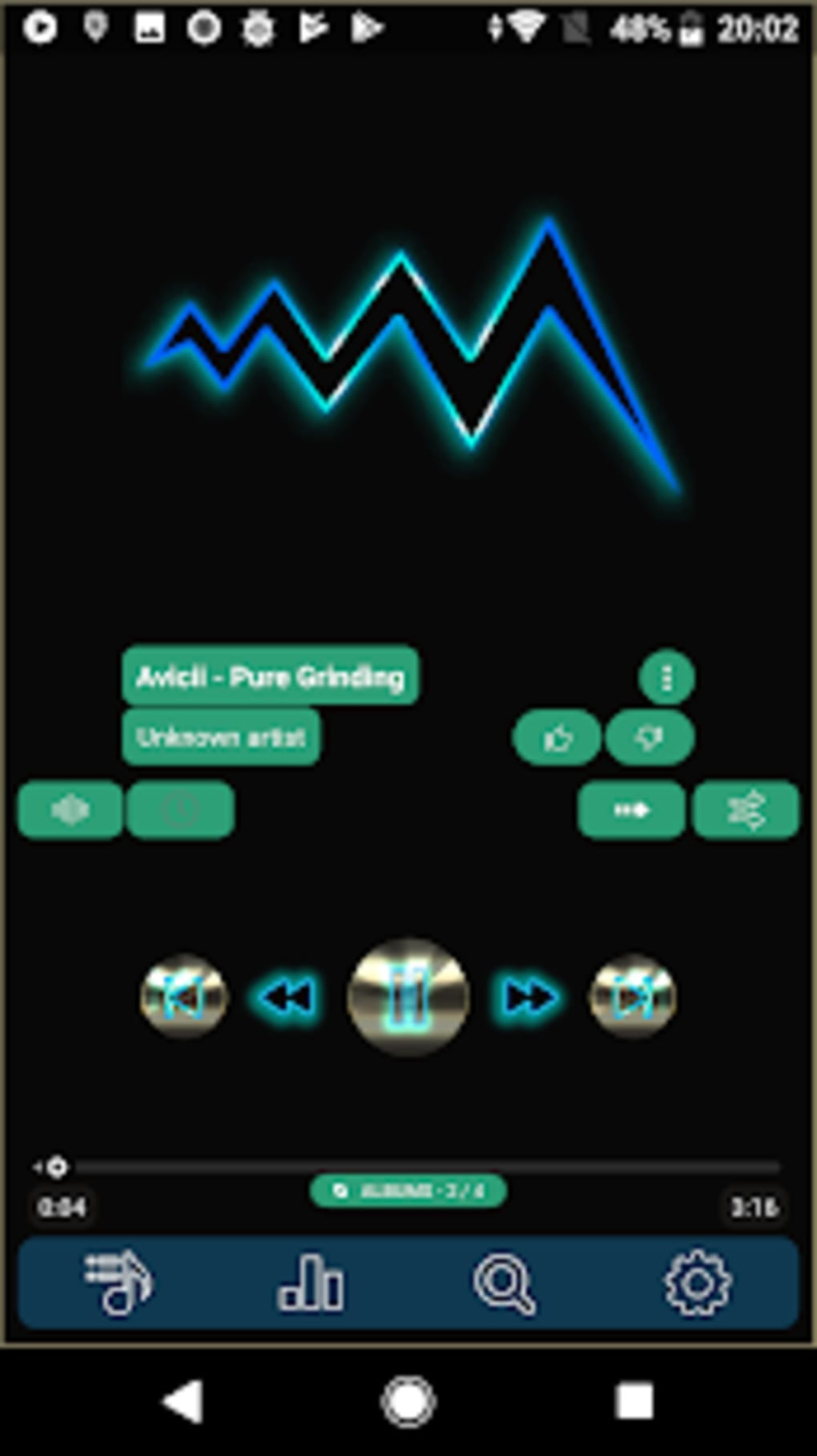 Poweramp skin platinum v3 for Android - Download
