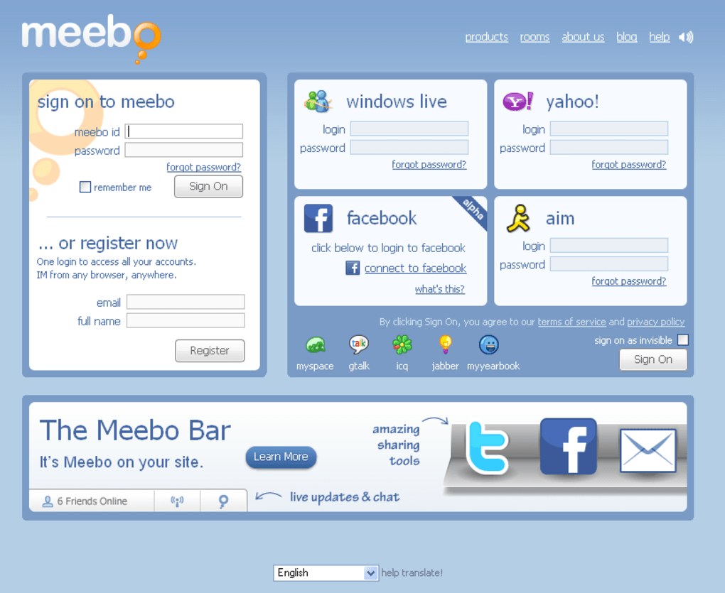 Meebo Rooms Chat Free