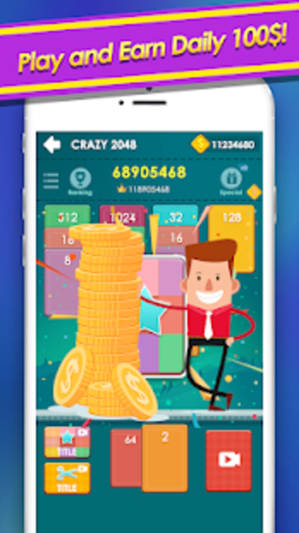 2048 solitaire - 2048 Cards game to win real money for