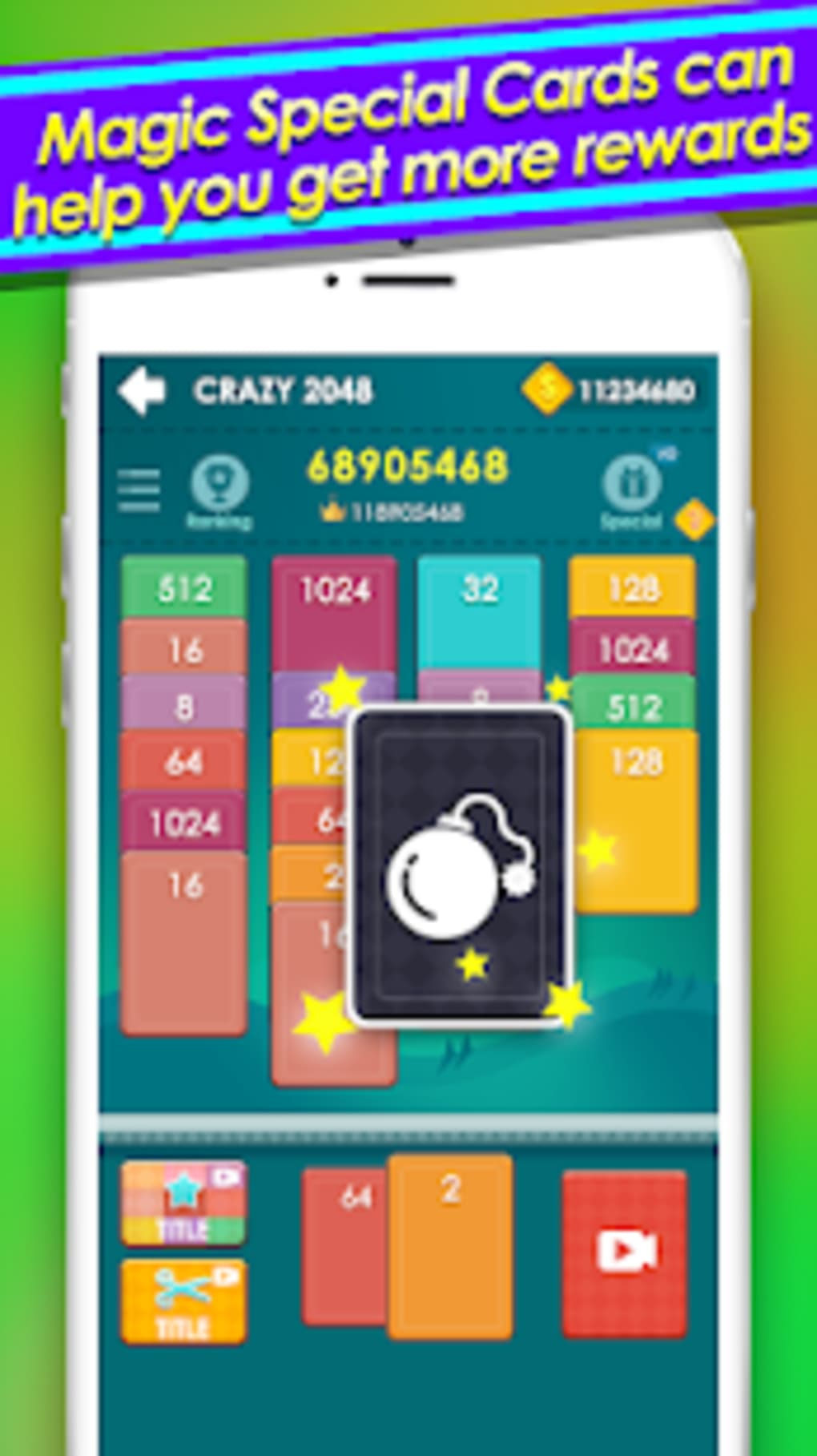 2048 solitaire - 2048 Cards game to win real money for Android