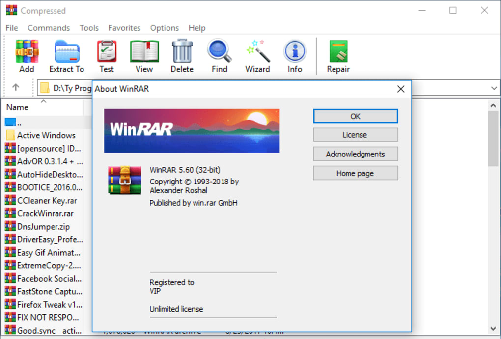 winrar for windows 10 64 bit free download