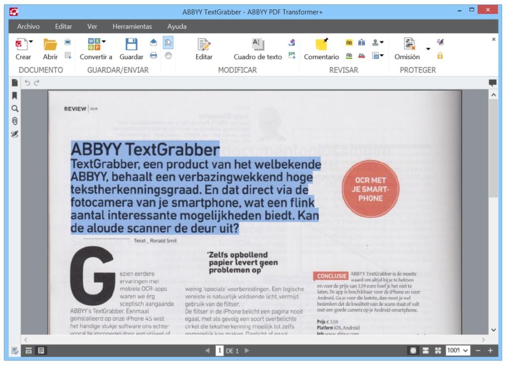 ABBYY PDF Transformer - Descargar