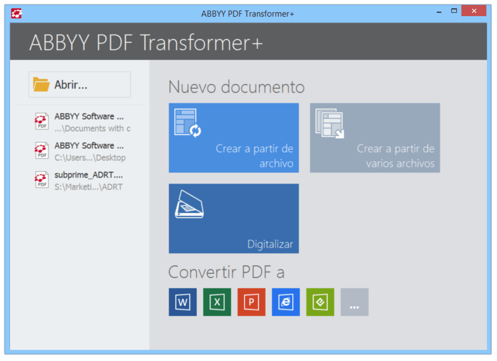 Resultado de imagen de ABBYY PDF Transformer