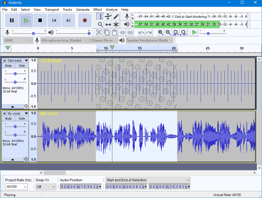 audacity in italiano