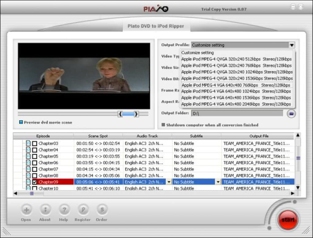 Plato DVD to iPod Converter v5.49 by Extreme Team serial ...