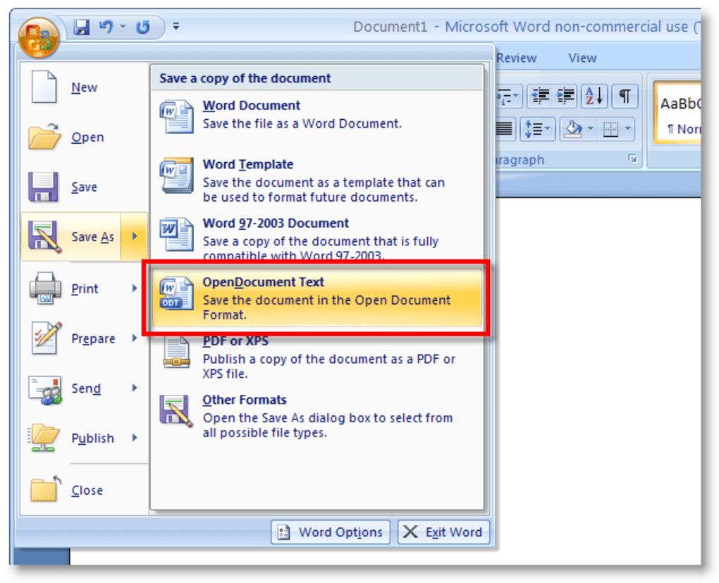 telecharger office 2007 gratuit pour windows 10