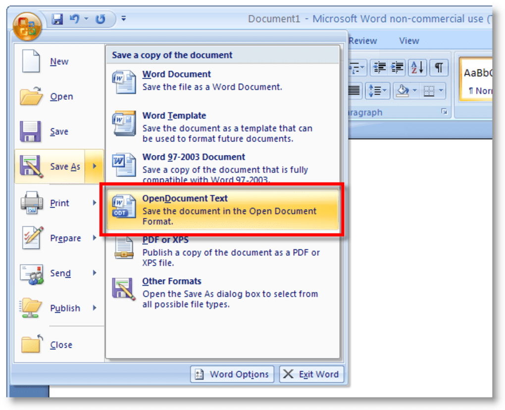 pacchetto microsoft office 2007 gratis