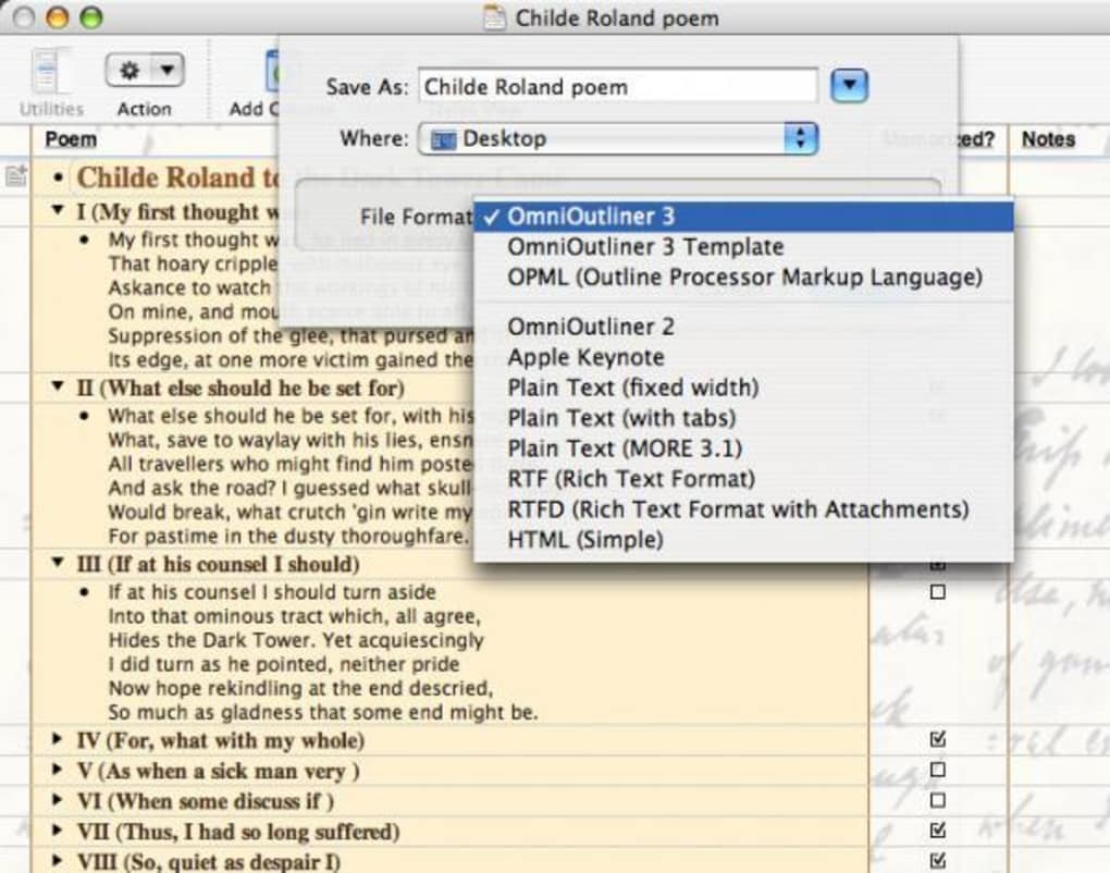 Omnioutliner For Mac Download