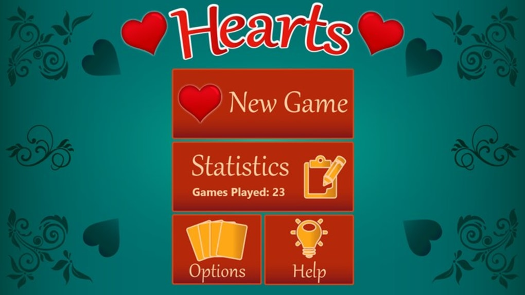 Classic Hearts HD is a free card game app for Windows 10The game is based on the classic card game hearts where you play with three other players and the player who scores the lowest at the end of one dealt hand wins the game