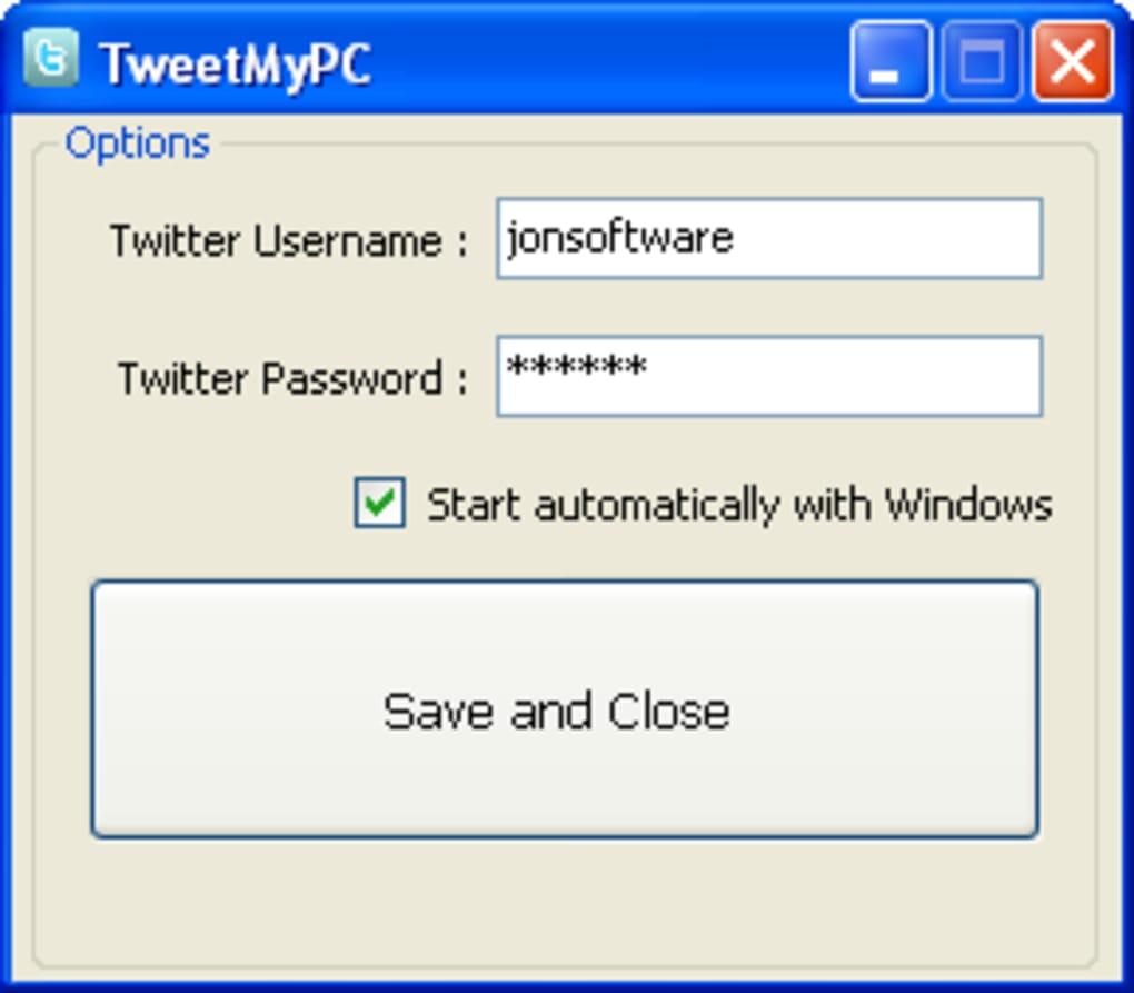 tweetmypc version 3.9
