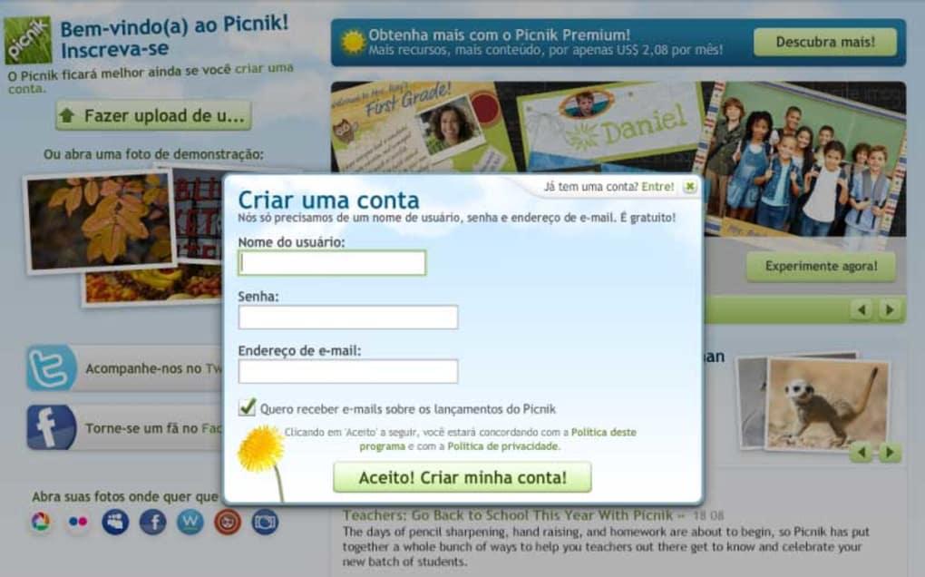 picnik editor de fotos gratis em portugues