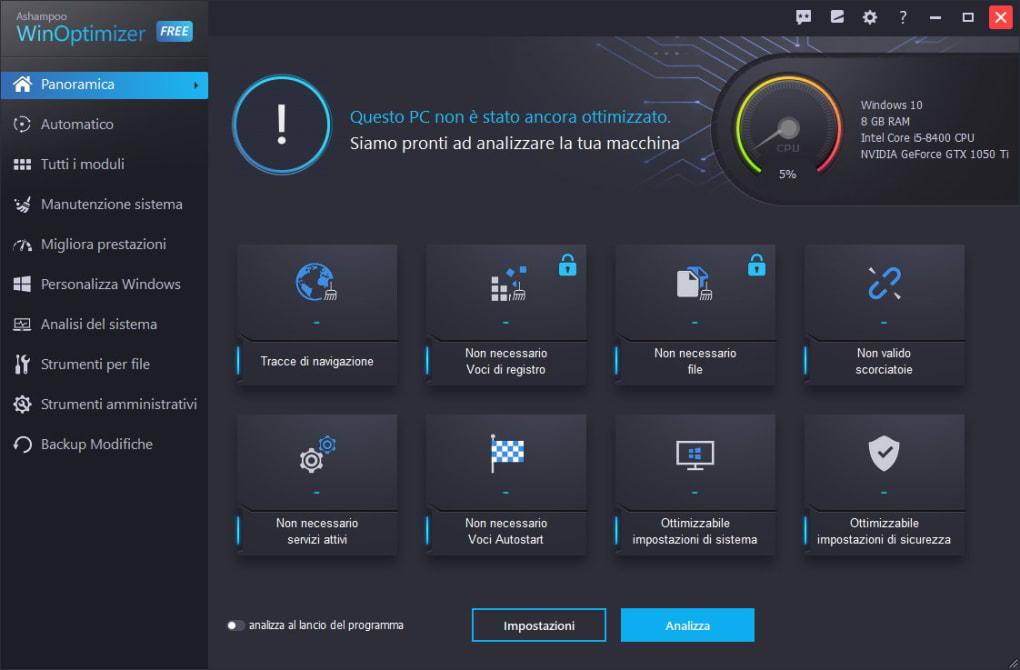 Ashampoo Winoptimizer Free Download Italiano