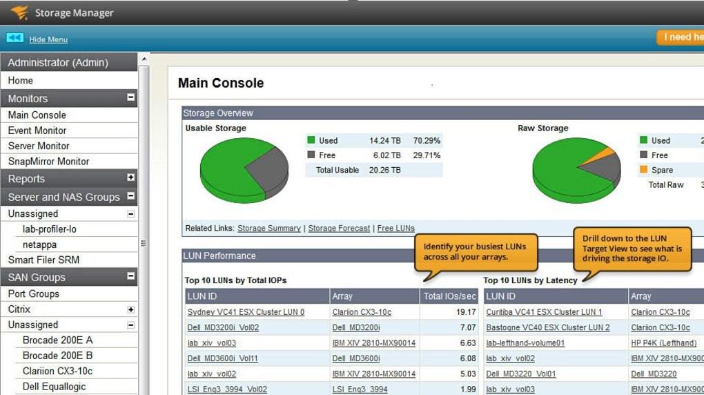 SolarWinds Storage Manager