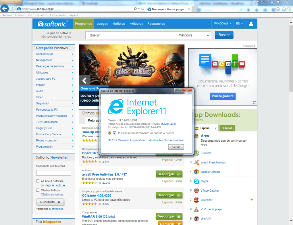 descargar internet explorer 8 para windows xp media center edition